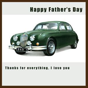 Jaguar Mk2 Father's Day Card