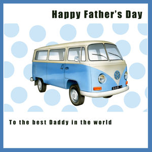 Vw Campervan Father's Day Card - personalised cards