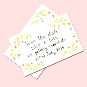 50 'Spring' Save The Date Cards