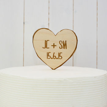 Personalised Love Hearts Wedding Cake Topper
