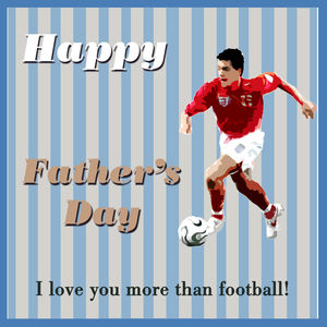 Football Father's Day Card - personalised cards
