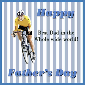 Cycling Father's Day Card - personalised cards