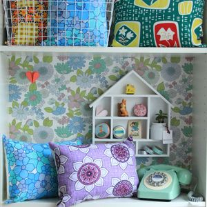 Retro Fabric Cushion - patterned cushions