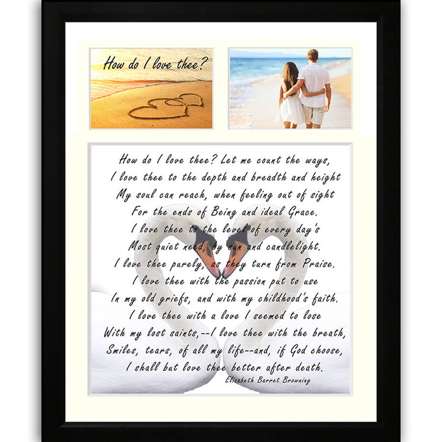 wedding gift voucher framed poem and photos by the poetry studio ...