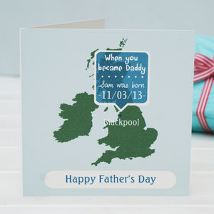 Personalised 'You Became Daddy' Card