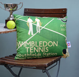 Wimbledon Tennis Cushion - bedroom