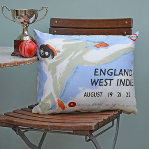 Cricket Test Series Cushion - patterned cushions