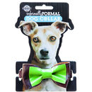 Novelty green & brown dog collar