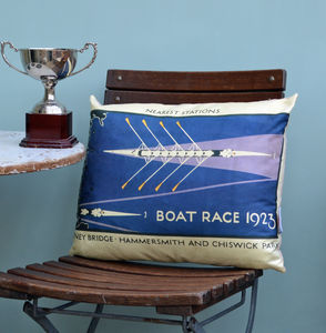 Boat Race 1923 Cushion - bedroom