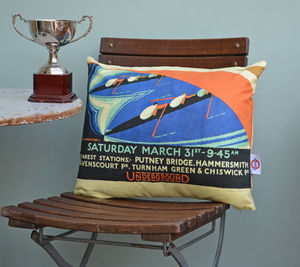 Boat Race Cushion 1928 - living room
