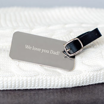 Engraved Luggage Tag For Dad