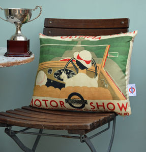 Olympia Motor Show Cushion - patterned cushions