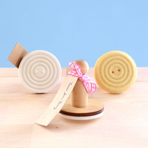 Vintage Style Ripple Button Cookie Stamp - cookie cutters