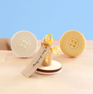 Vintage Style Swirl Button Cookie Stamp - kitchen accessories