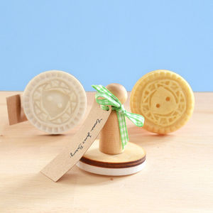 Vintage Style Corsage Button Cookie Stamp - cake decoration