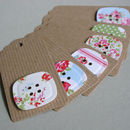 Garden Party Button Tag Set, Pack Of Six