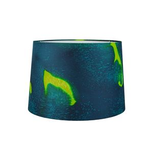 Emerald Hand Painted Silk Lampshade - lighting