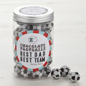 Father's Day Chocolate Footballs - food & drink gifts
