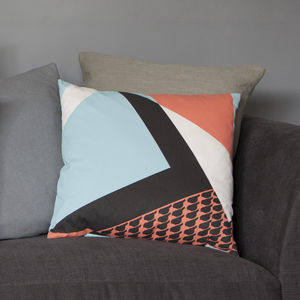 Land's End Geometric Bird Cushion - summer sale
