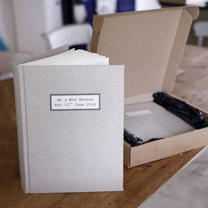 Personalised Linen Wedding Photo Album - photo albums