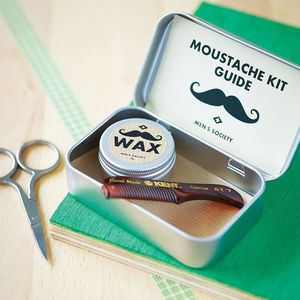 Moustache Grooming Kit - best gifts for dads