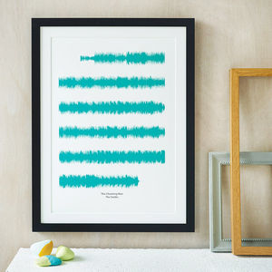 Personalised Favourite Song Soundwaves Print - engagement gifts