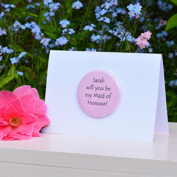 Personalised 'Will You Be My Maid Of Honour' Card
