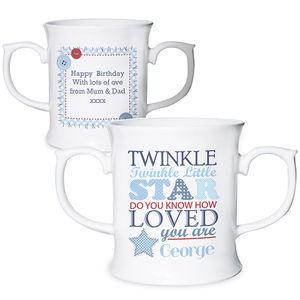 Personalised Twinkle Boys Cup