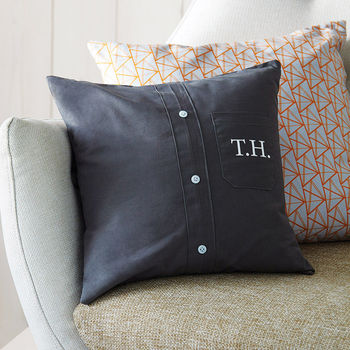 Personalised Monogram Shirt Cushion Cover