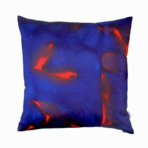 Scarlett Hand Painted Silk Square Cushion - cushions