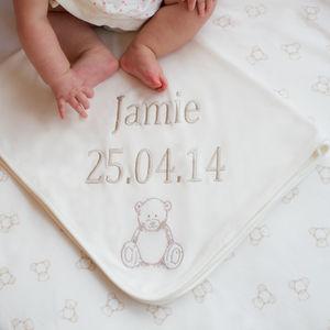 Personalised Teddy Blanket - baby care