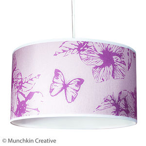 Butterfly Floral Lampshade - children's lighting