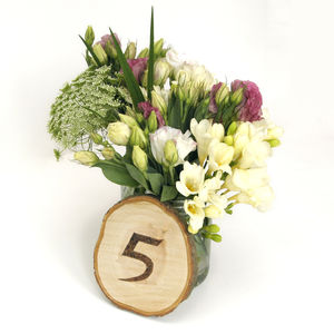 Set Of Personalised Wooden Table Numbers