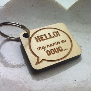 Fun Speech Bubble Dog Tag