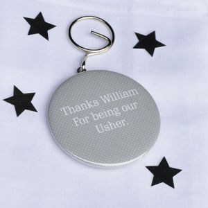 Personalised 'Usher' Bottle Opener Keyring - wedding favours