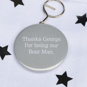 Personalised 'Best Man' Bottle Opener Keyring - wedding favours