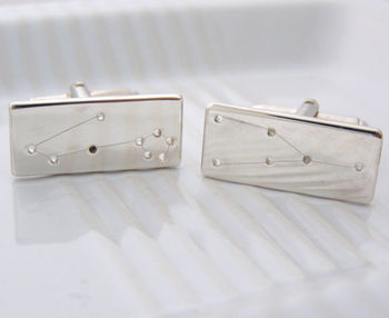Constellation/Star Sign Silver Cuff Links
