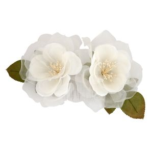 Frances Flower Duo Comb - wedding jewellery
