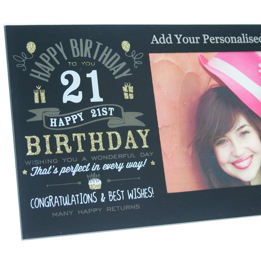 Personalised 21st Birthday Frame In Black By Giftsonline4u