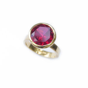 Ruby Red Cocktail Ring - rings