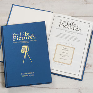 Personalise Your Life In Pictures Book - birthday gifts