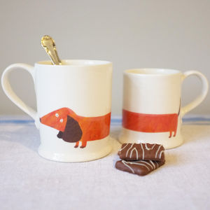 Dachshund Mug - ceramics