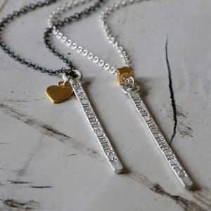 Personalised Mega Bar Necklace