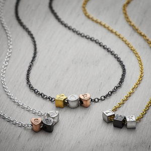 Personalised Alphabits Initial Necklace - necklaces & pendants