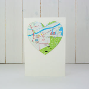 Bespoke Illustrated Map Location Wedding Invitation