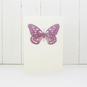 Bespoke Laser Cut Butterfly Wedding Invites Set Of 10 - invitations