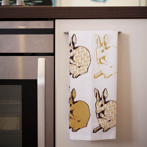 Rabbit Tea Towel - kitchen linen