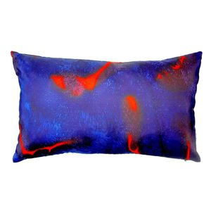 Scarlett Hand Painted Pillow Cushion - patterned cushions