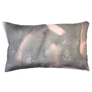 Rose Hand Painted Silk Pillow Cushion