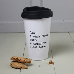 Personalised Father's Quote Travel Mug - mugs